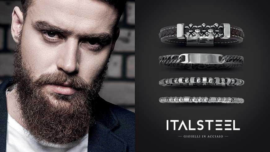 Cover Story – Rebellious rules, the man jewelry according Italsteel