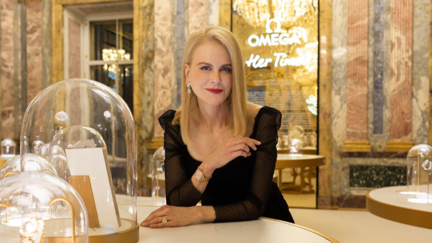 Omega Her Time and Nicole Kidman in St Petersburg