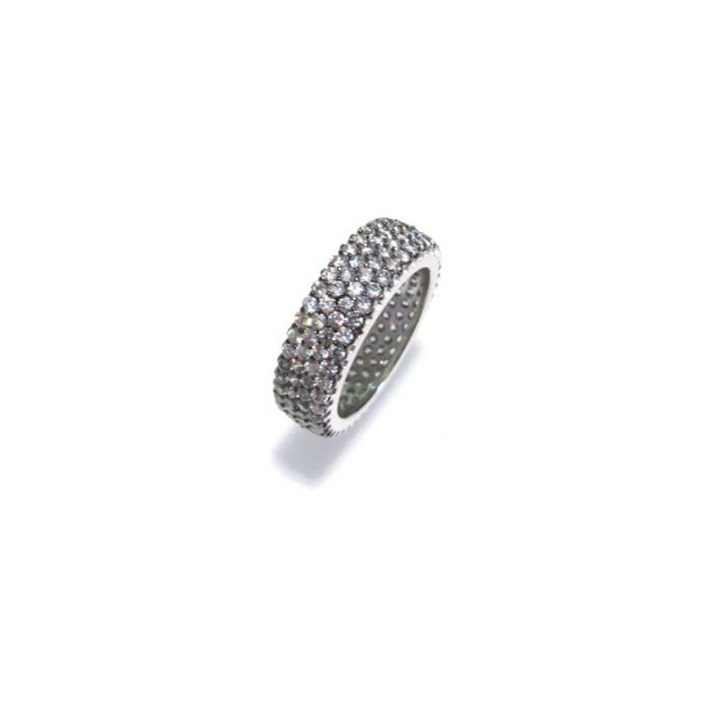 Anello in argento 92,5% con zirconi