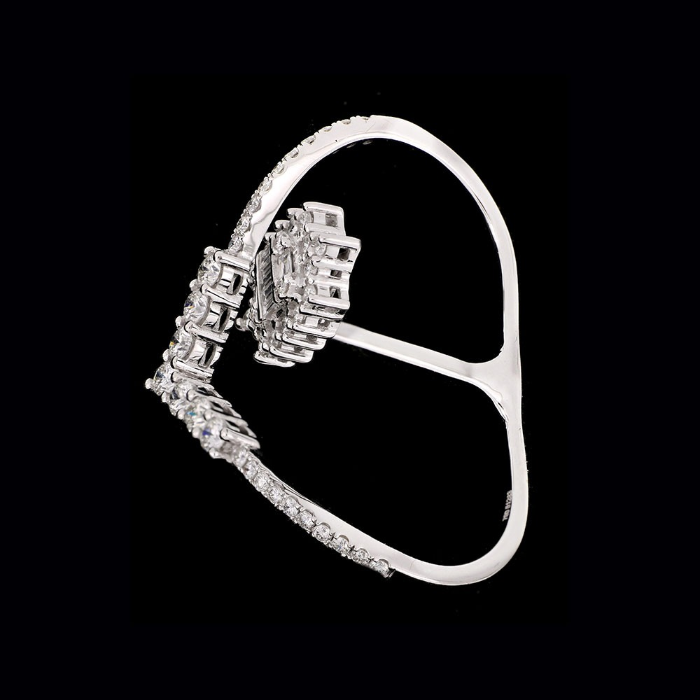 Diamond 2 fingers ring