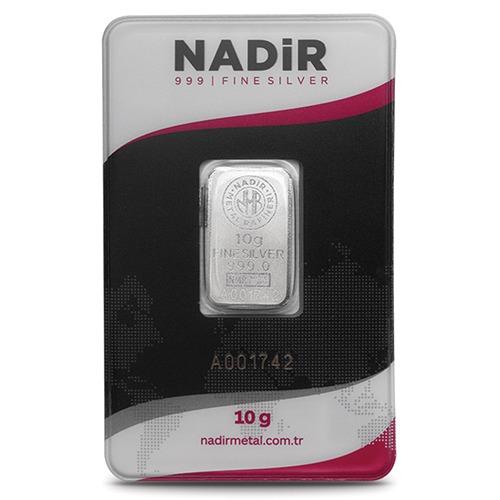 NadirGold 10 Gr Gümüş Külçe