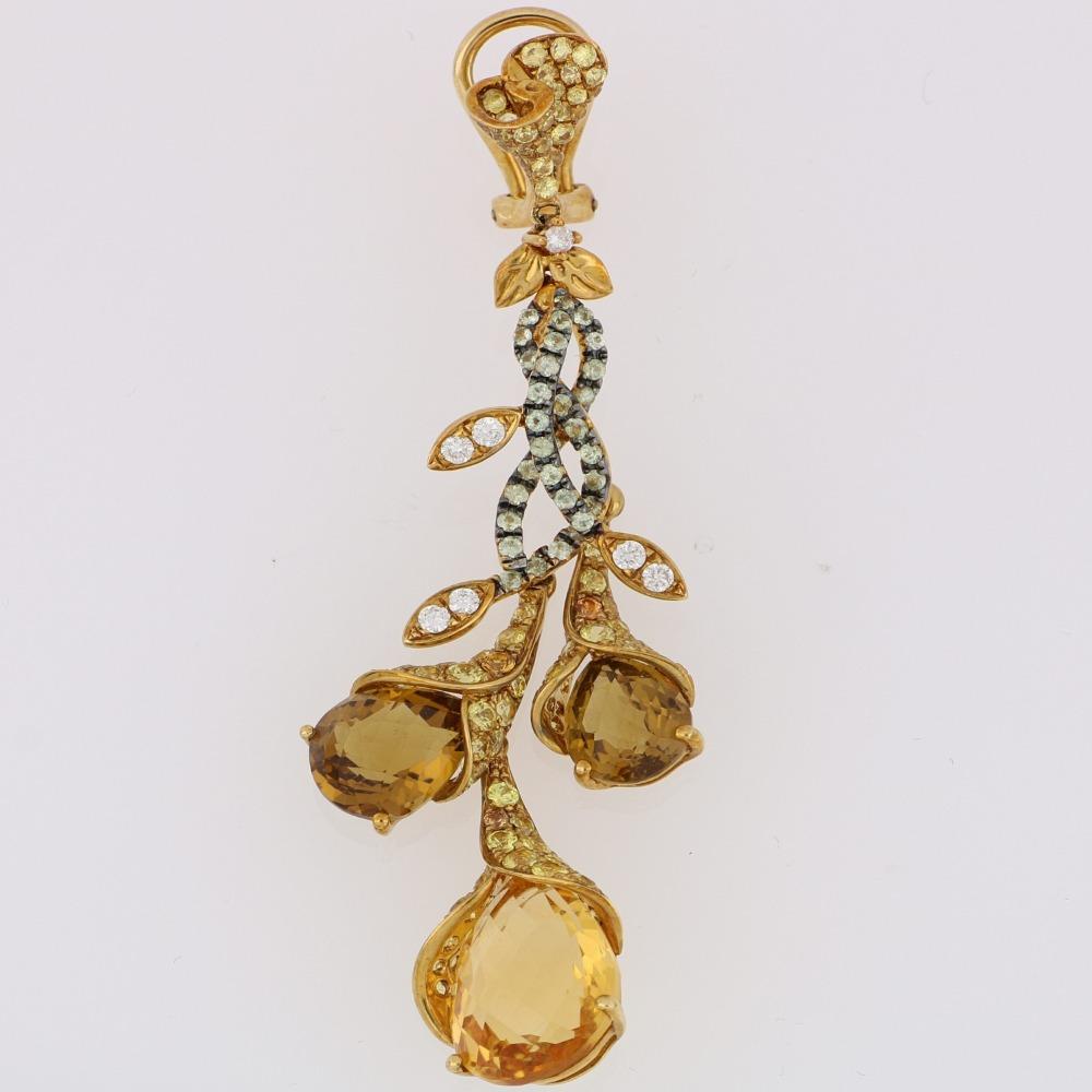 Citrine Diamond Earring
