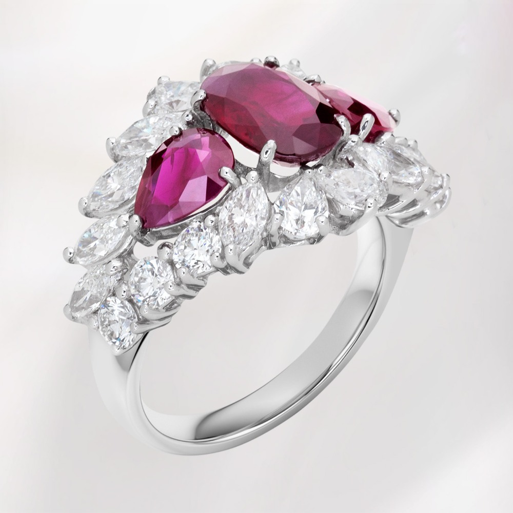 Ruby and Diamond Fancy ring