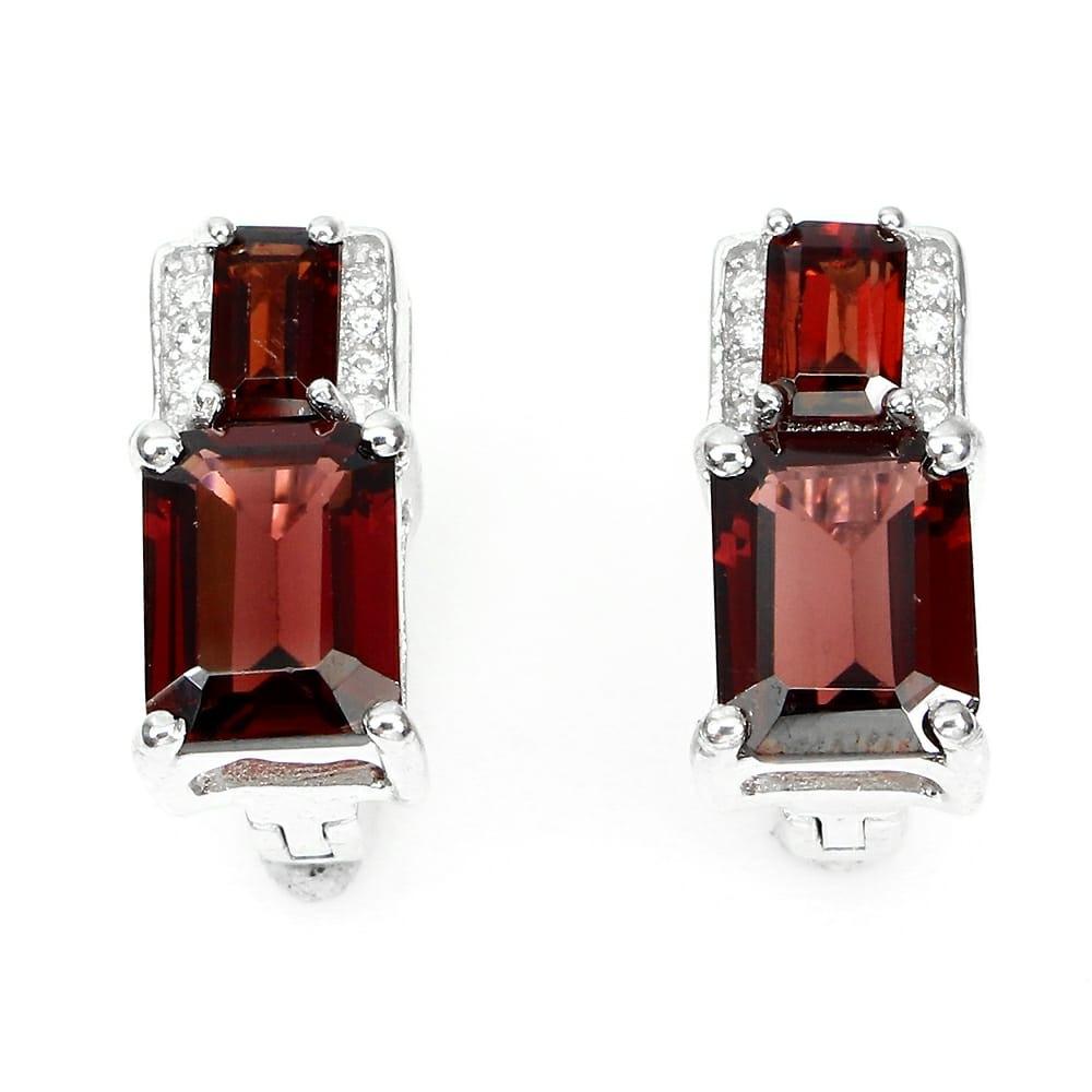 Natural Garnet earring