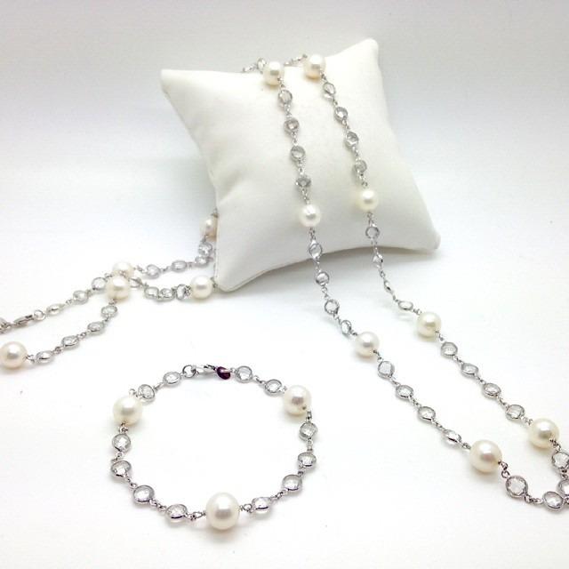 925 silver necklace and bracelet set