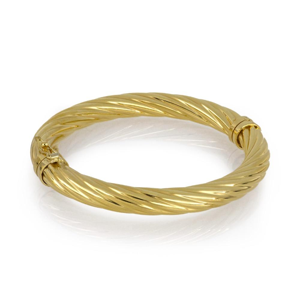 Bracciale tondo color oro