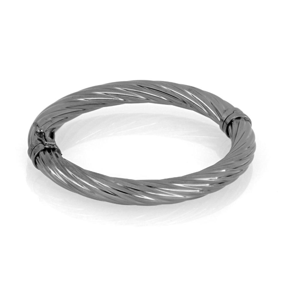 Bracciale tondo argento