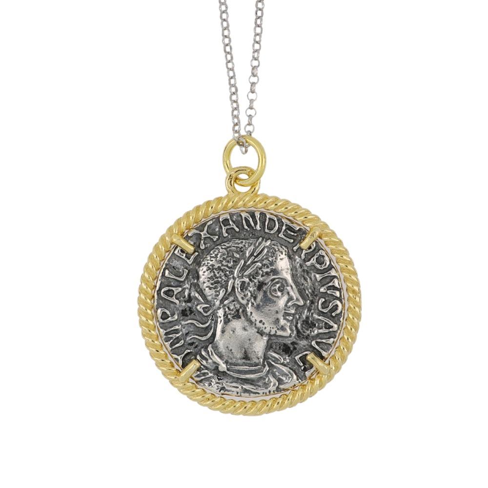 Ciondolo moneta romana - Roman coin pendant