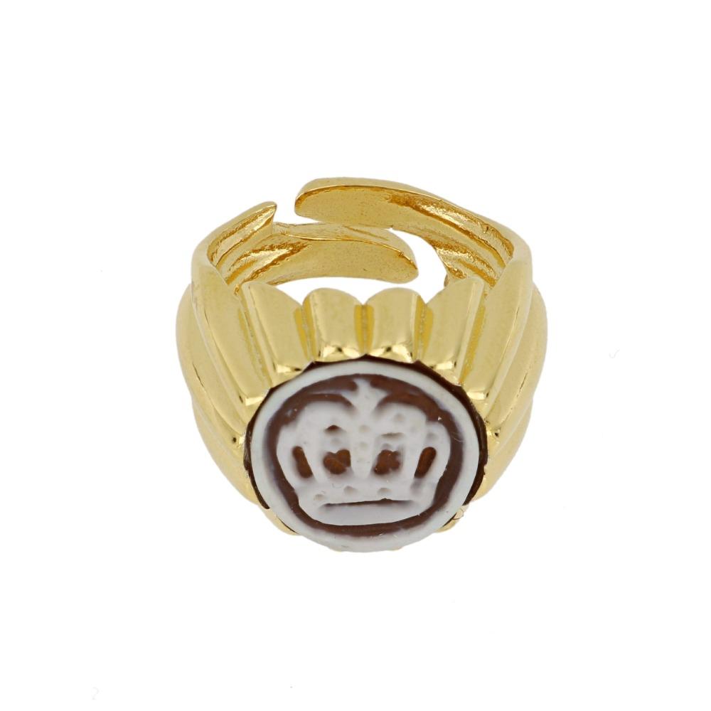 Anello cammeo corona - Crown cameo ring