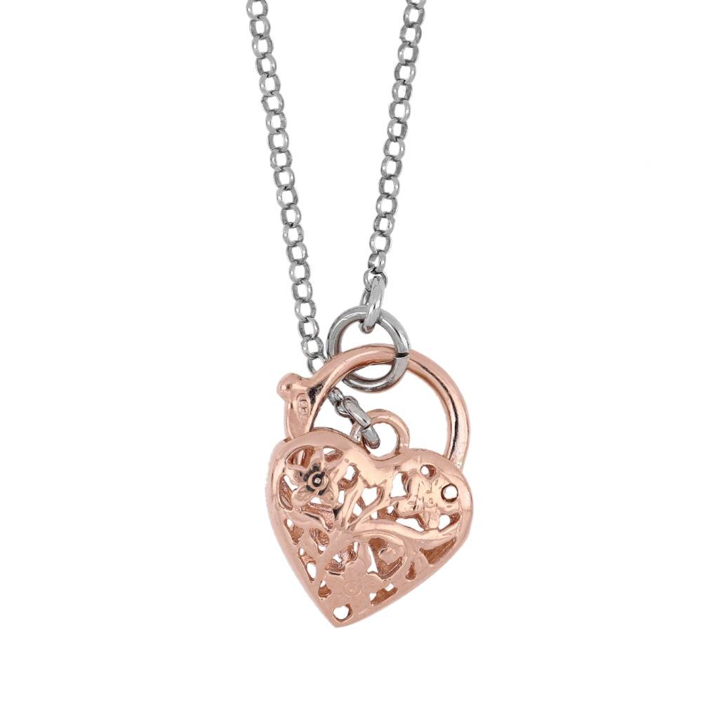 Collana con chiusura a cuore - Heart clasp necklace