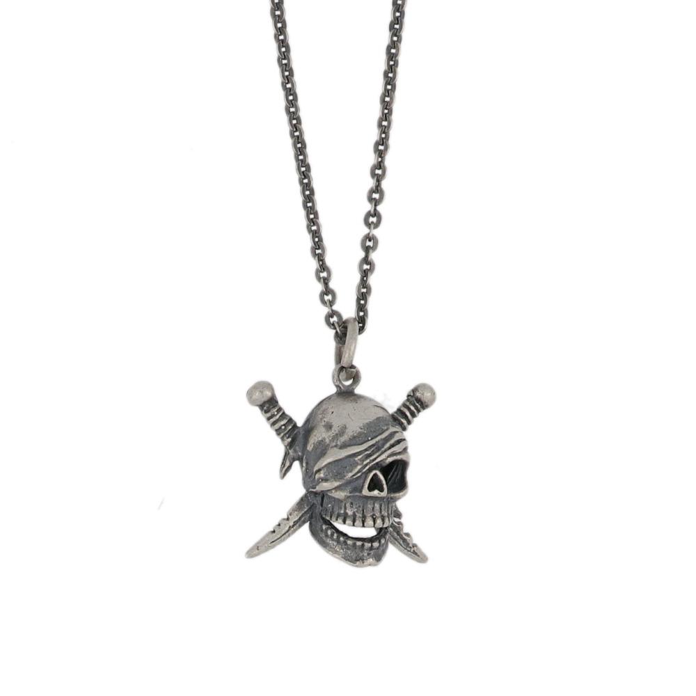 Ciondolo teschio pirati - Pirate skull pendant