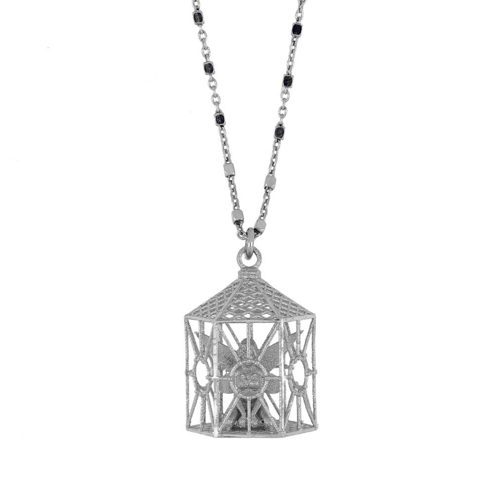 Collana con gabbia - Cage necklace