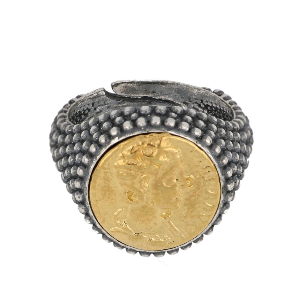 Anello moneta romana - Roman coin ring