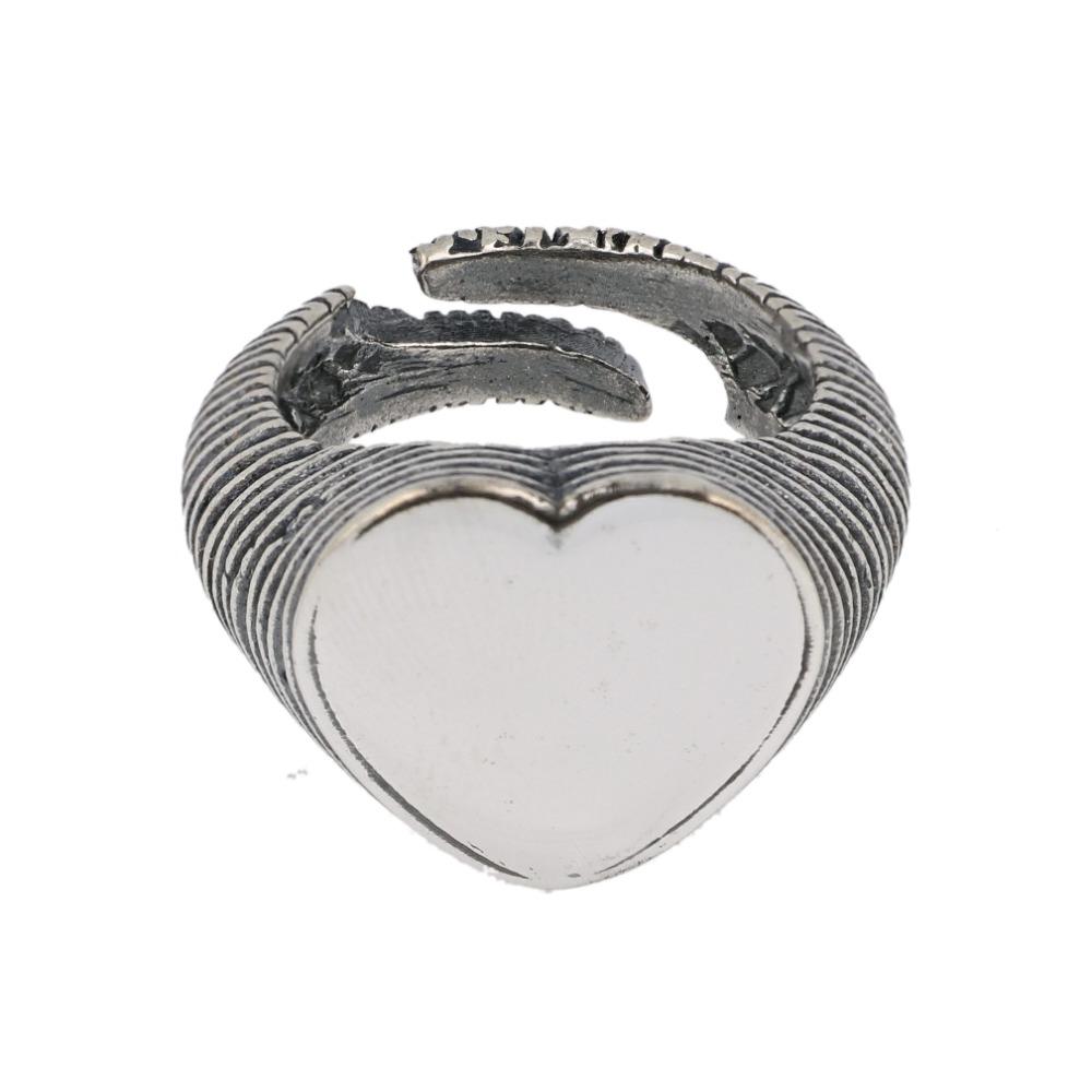 Anello cuore rigato - Scratched heart ring