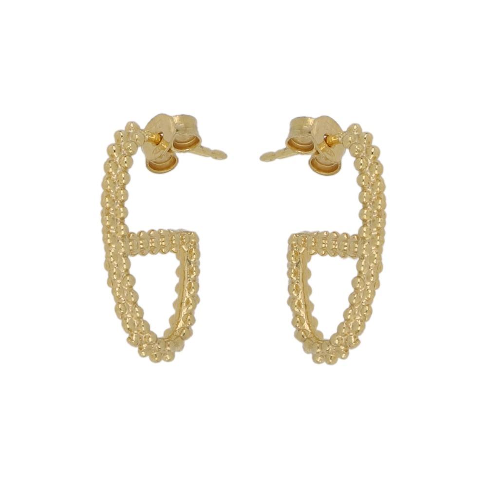 Orecchini maglia traversino pallinato - Dotted traversino earrings