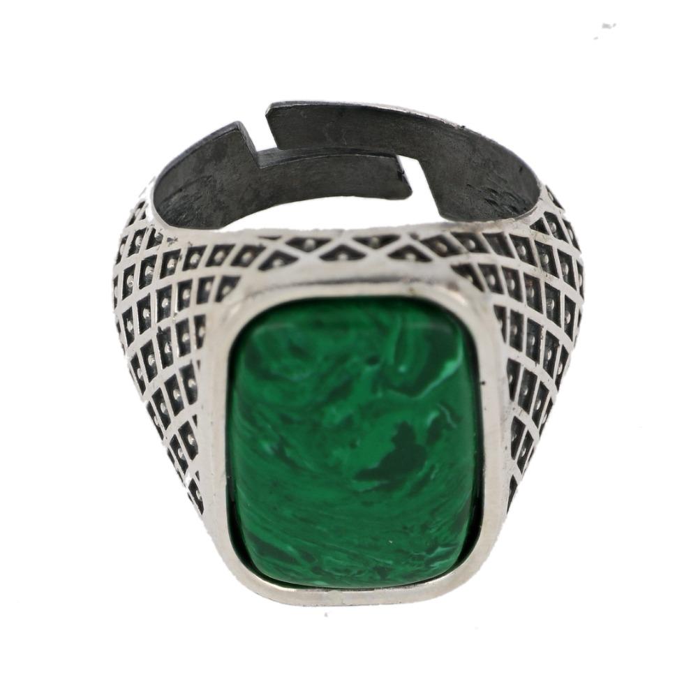 Anello pietra rettangolare cabochon - Rectangular cabochon stone ring