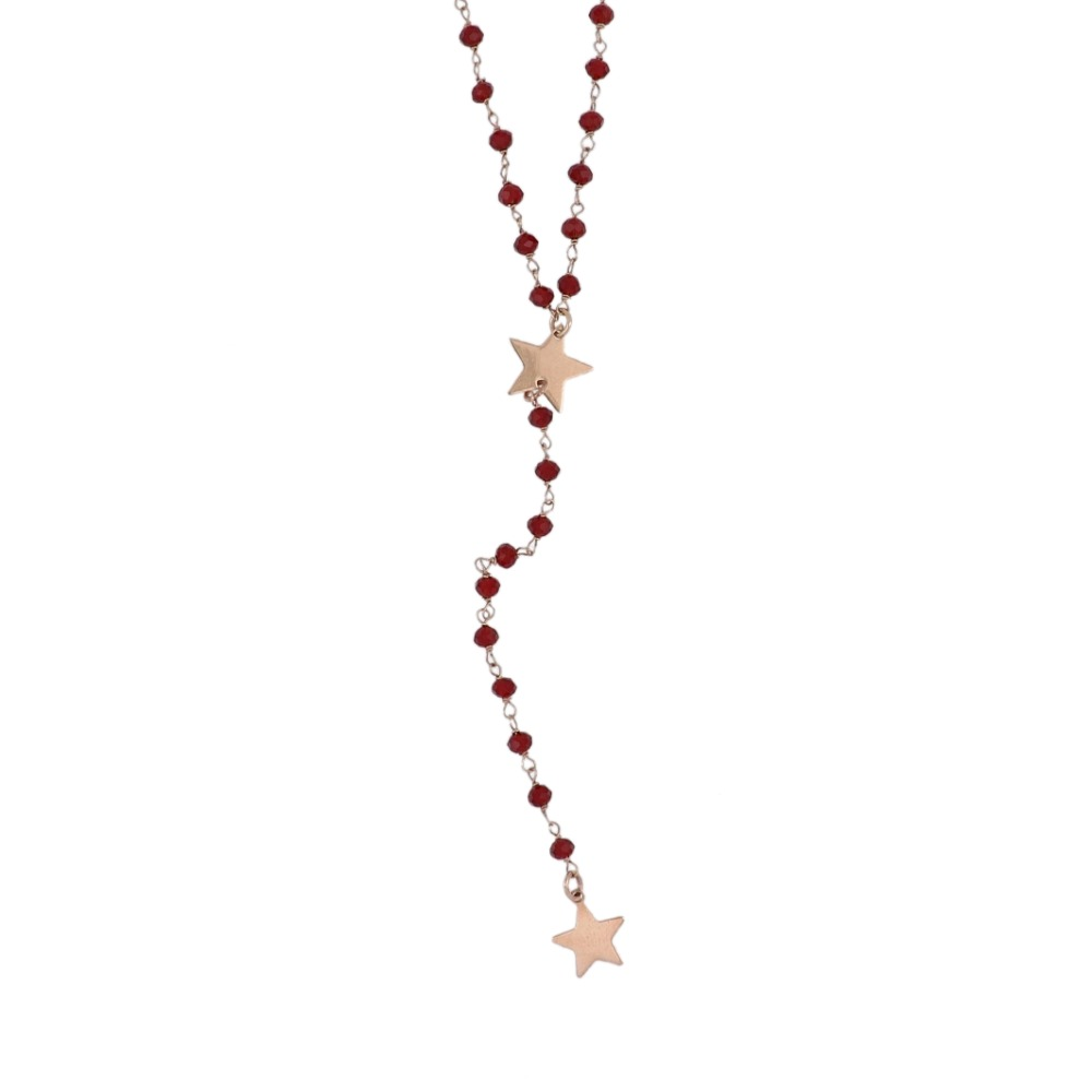 Collana stile rosario con stelle - Rosary style necklace with stars
