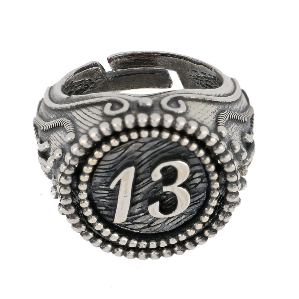 Anello girevole con pietra e 13 - Revolving ring with stone and 13