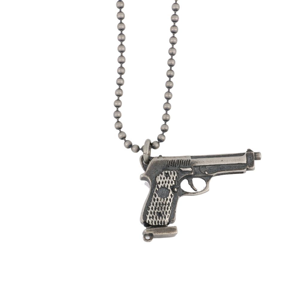 Ciondolo pistola con caricatore - Gun pendant with magazine