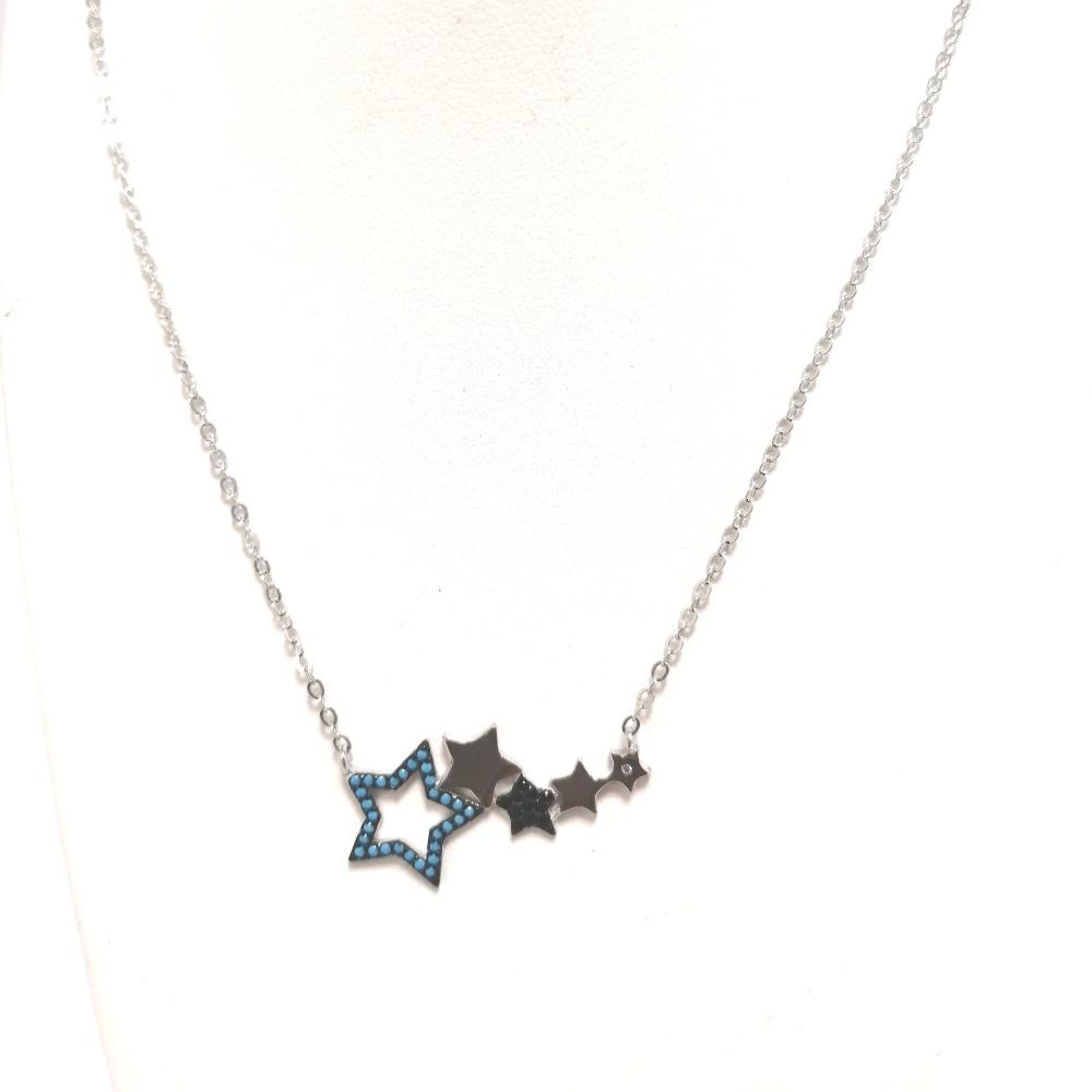 Collana con stelle e zirconi