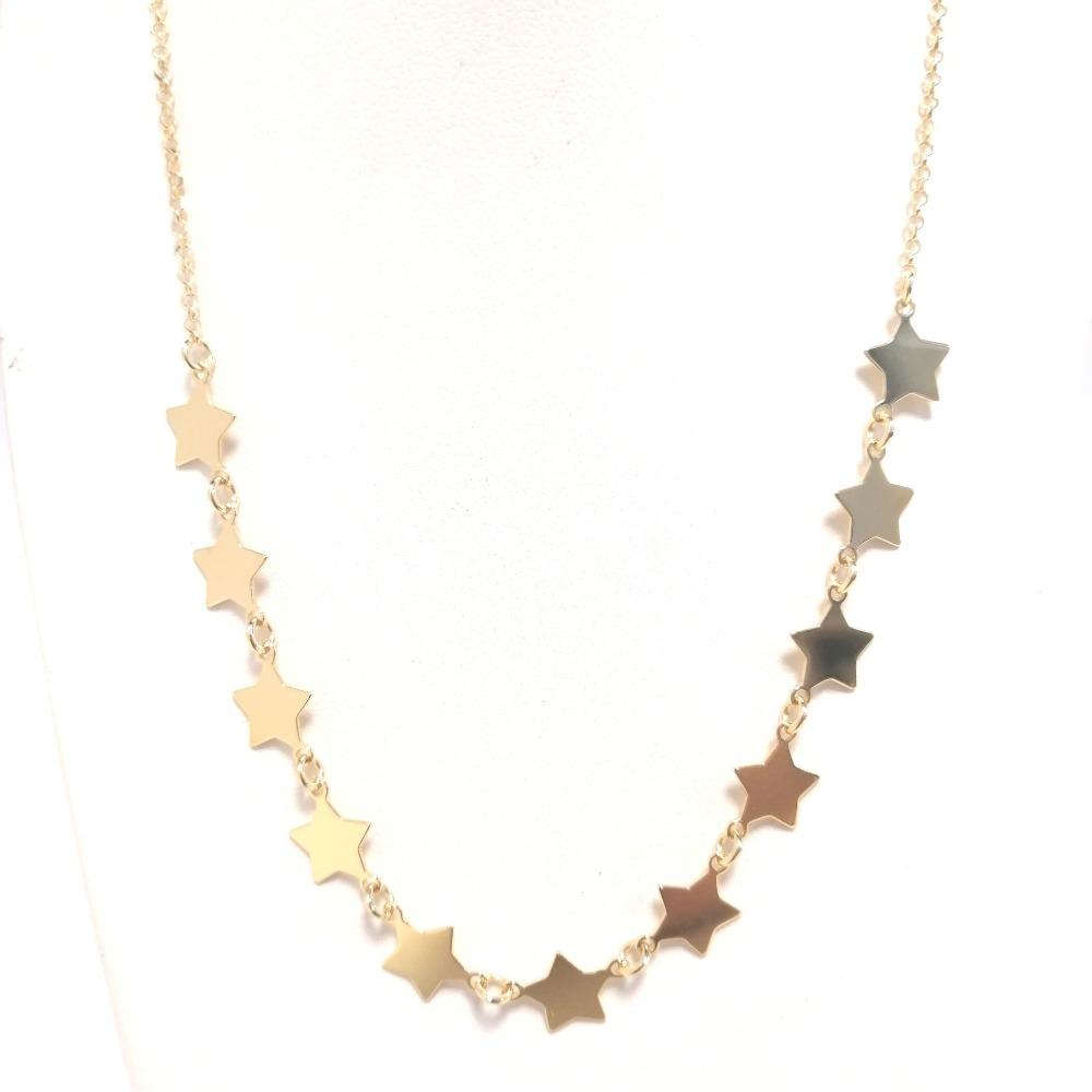 Collana oro con stelle ag 925