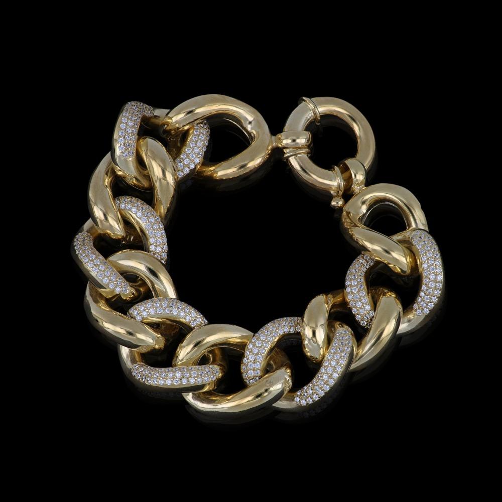 Bracciale in argento dorato