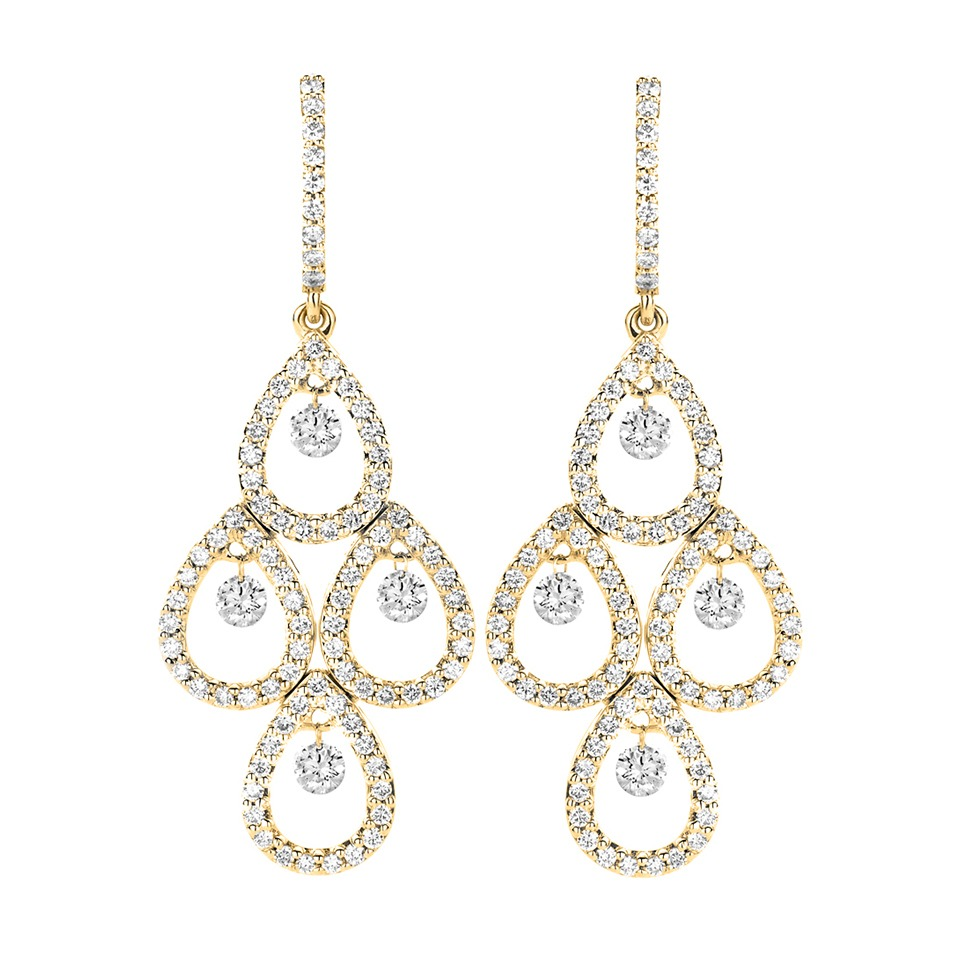 Diamond earrings - Diamonds in motion collection