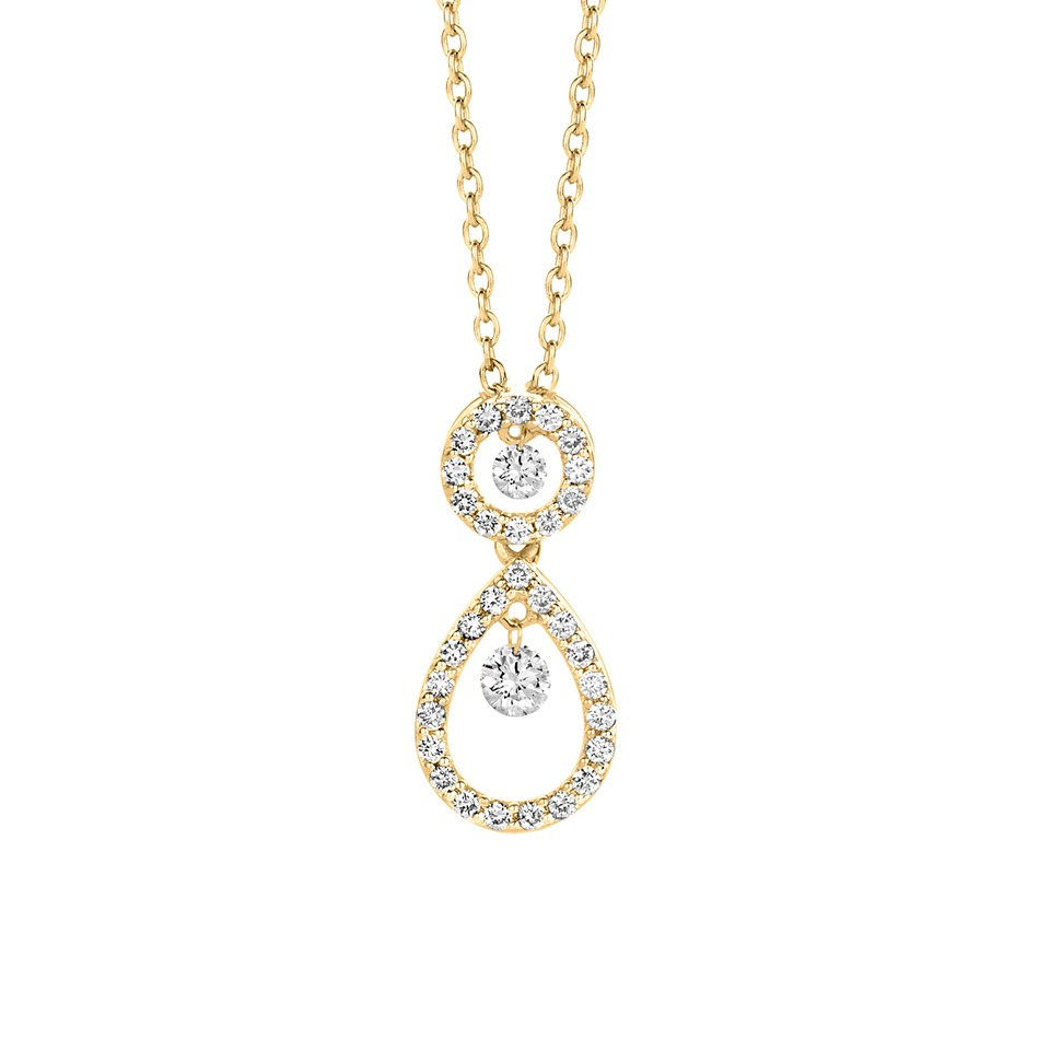 Diamond pendant - Diamonds in motion collection