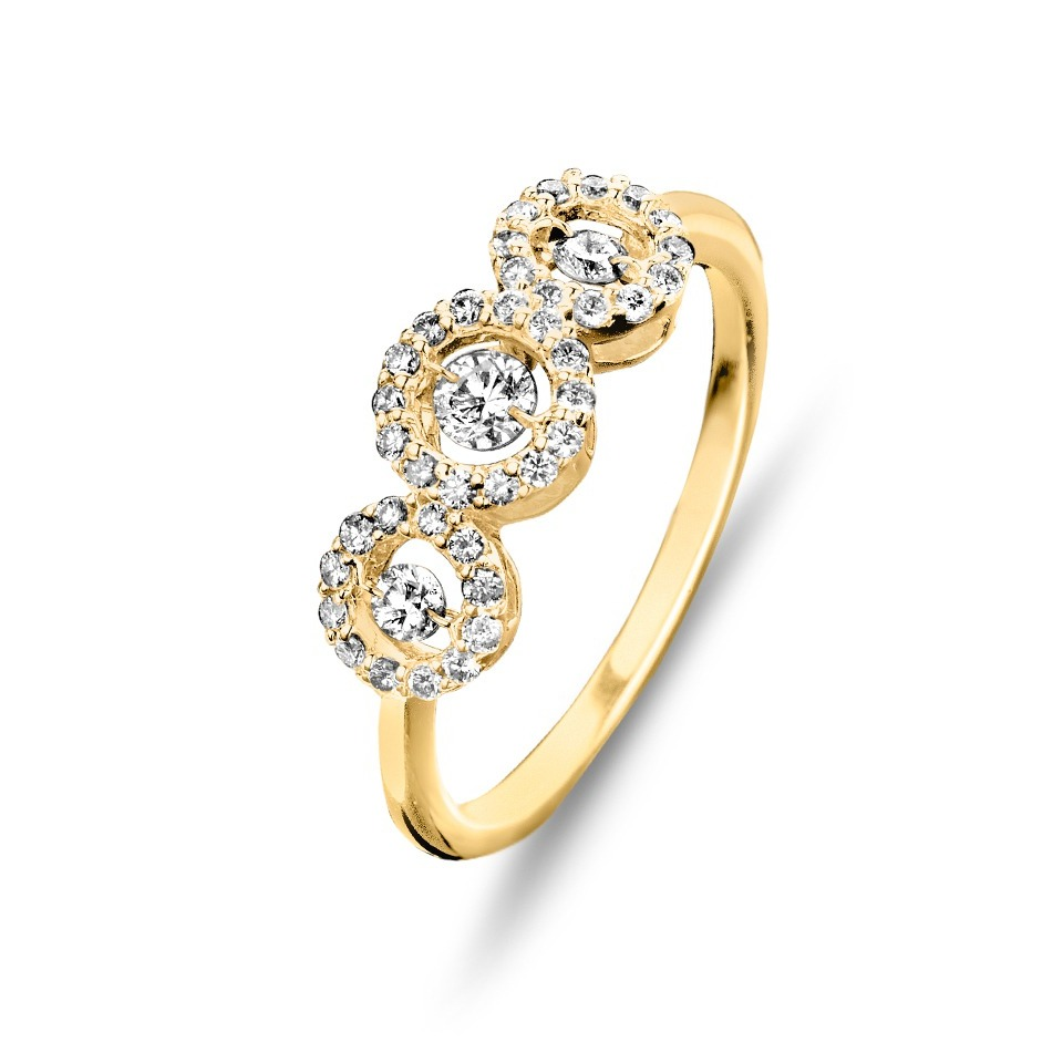 Diamond ring - Diamonds in motion collection