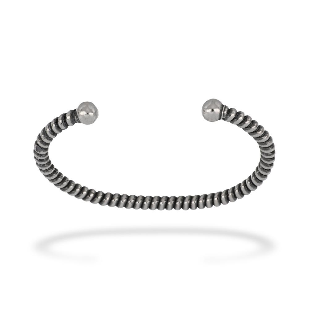 Schiava tubolare rigata - Hollow striped bangle