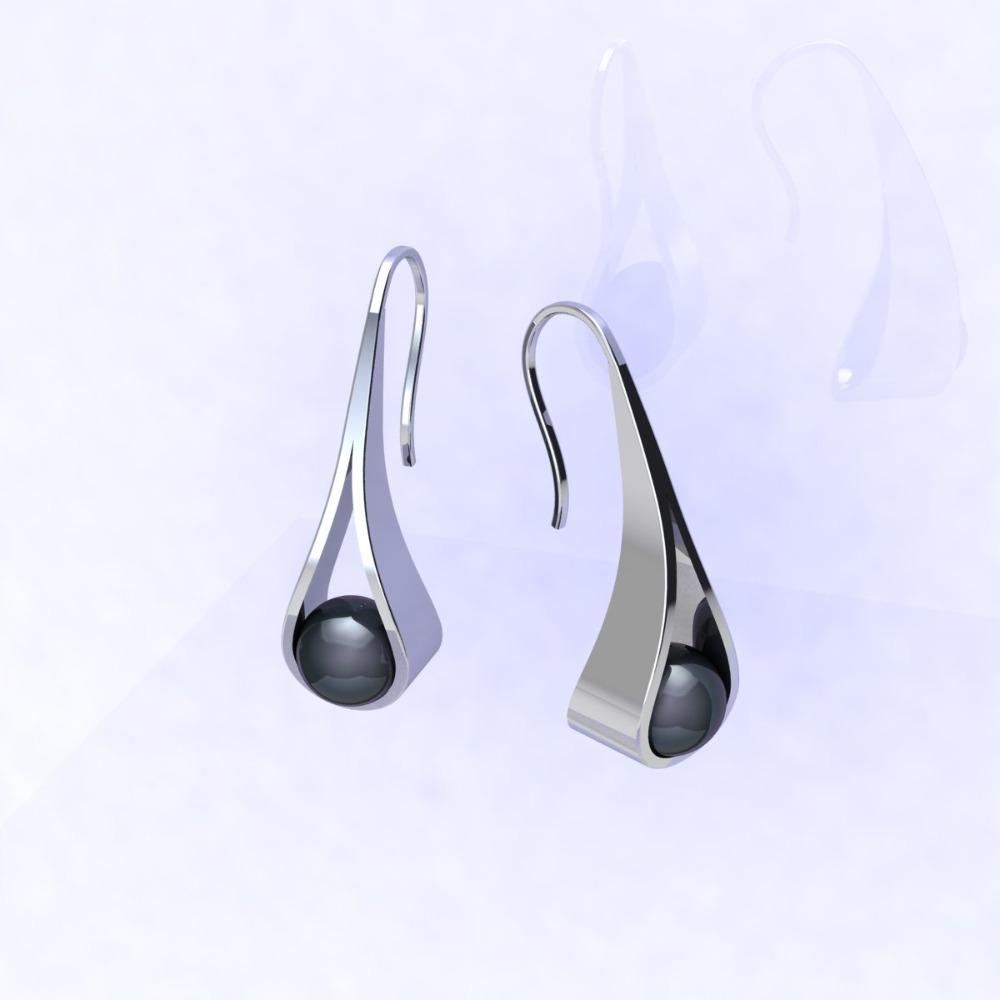 orecchini Perlanera