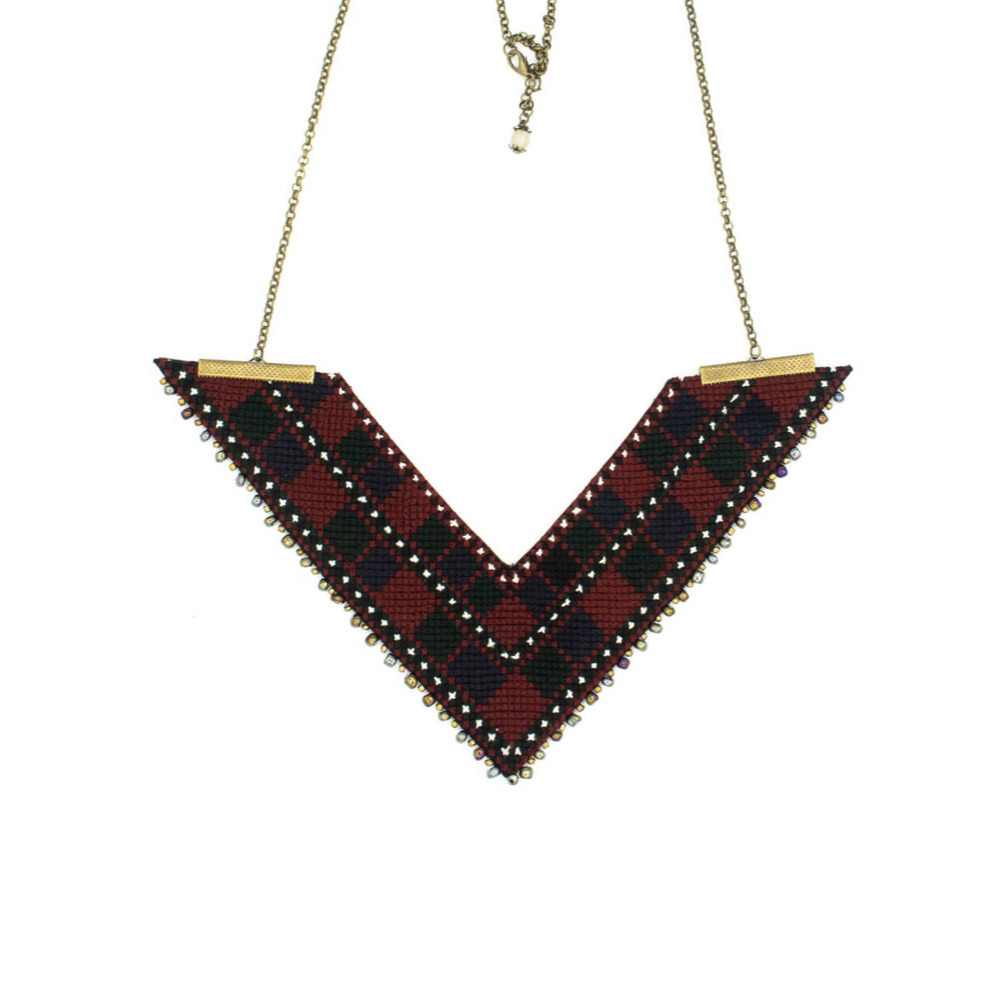 Triangle Balouch Embroidery Necklace