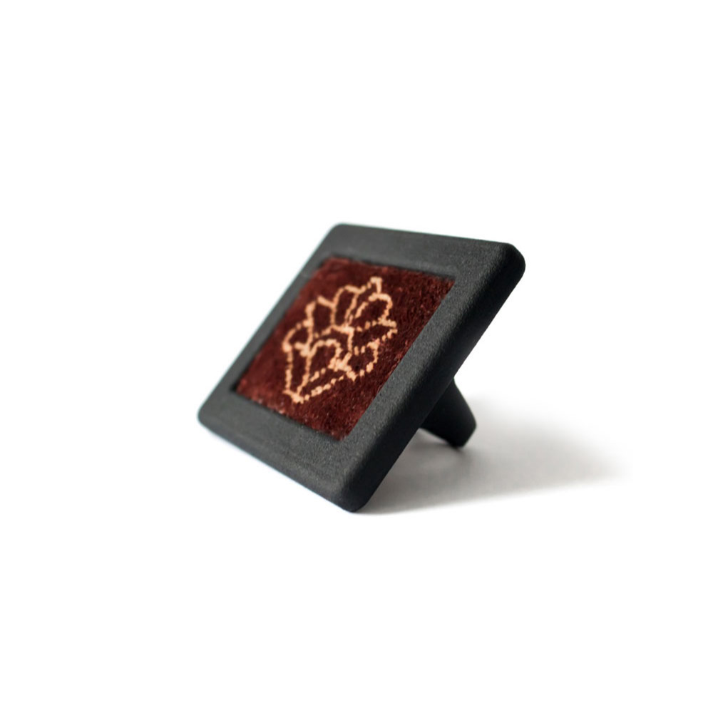 Persian silk carpet Ring black