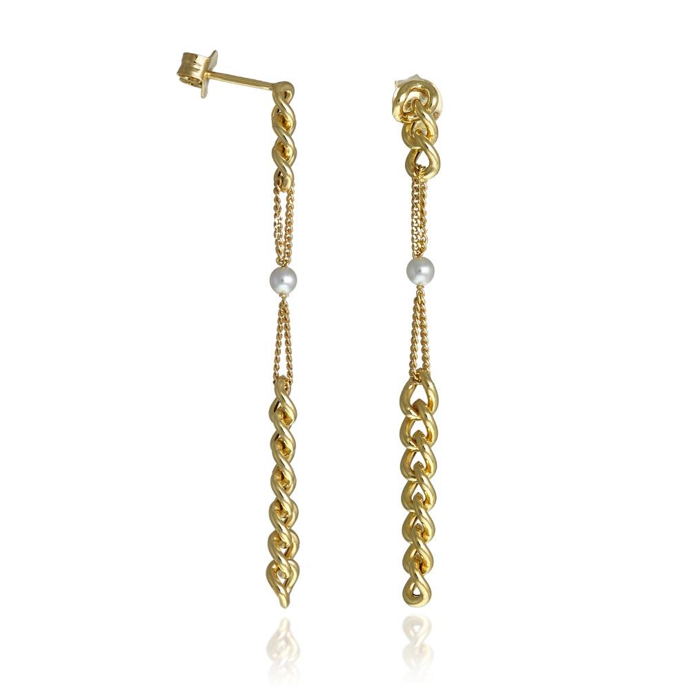 Orecchini Chain Pearls