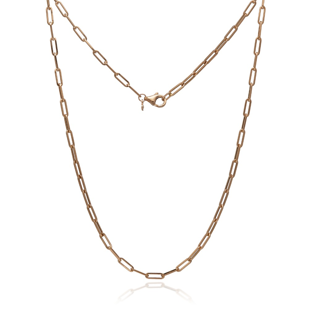 Chain total rose necklace