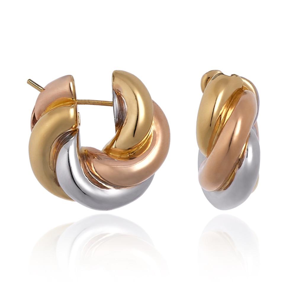 Trio colors torchon earrings